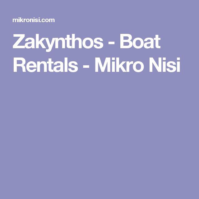 Zakynthos - Boat Rentals - Mikro Nisi