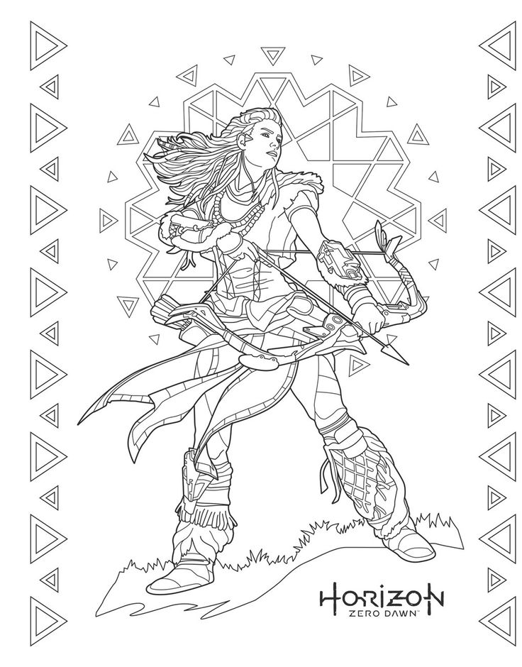 Art for the Players The official colouring book from PlayStation Colour in Aloy from Horizon
