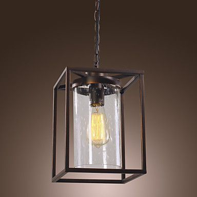 Retro Pendant Light with Factory Style Glass Shade – USD $ 139.99 #00533950 lightingthebox.com