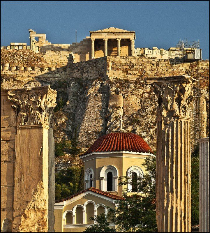 Architecture details of Ancient Athens