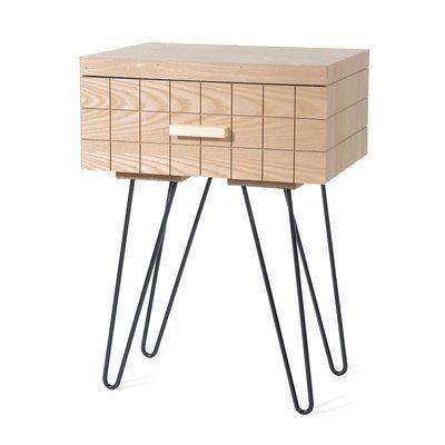 Nachttisch, 40x30x56cm, natur