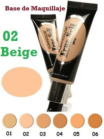 Base de Maquillaje Hidratante True Self Kleancolor Beige 02