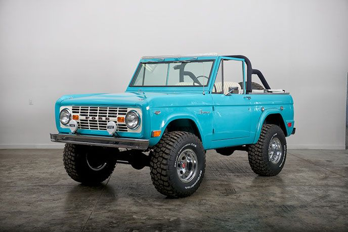 1968 Ford Bronco Turquoise Early Model Ford Bronco For Sale