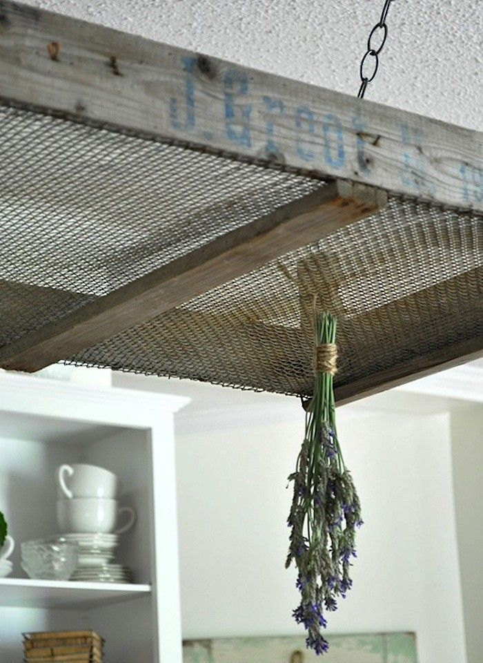 Vintage Crate as Herb Drying Rack, Gardenista