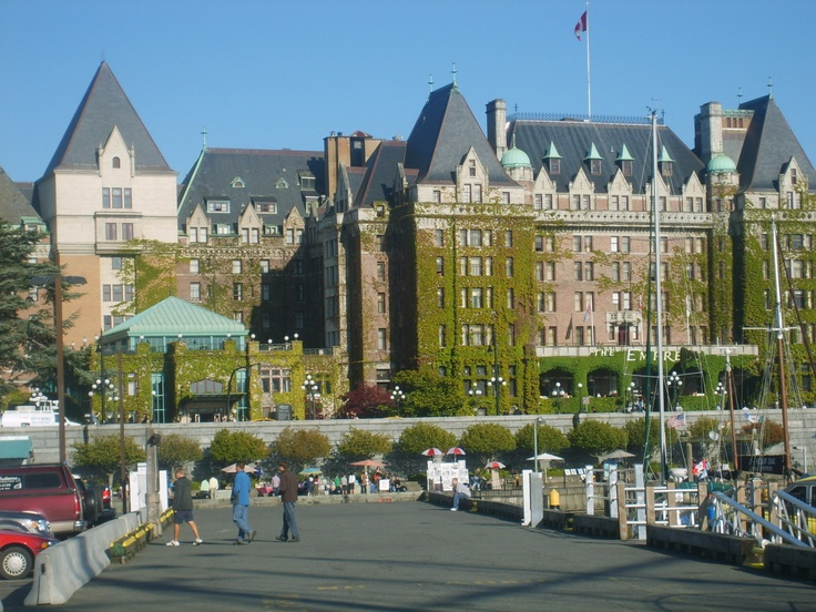 view from the pier of the Empress Hotel, Victoria BC