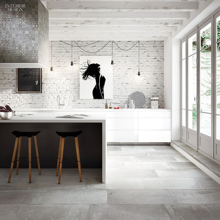 Floor tiles splash back and bench top . Toka by Ceramica Fondovalle. Toka  porcelain tiles in Cliff by Ceramica Fondovalle. 28 Fresh Picks in Flooring