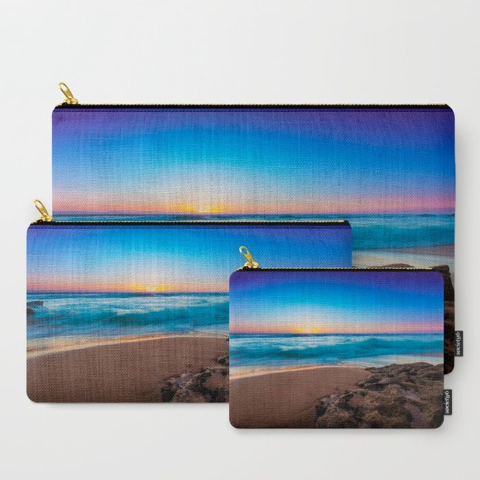 A Day At The Beach Carry-All Pouch by Mixed Imagery | Society6