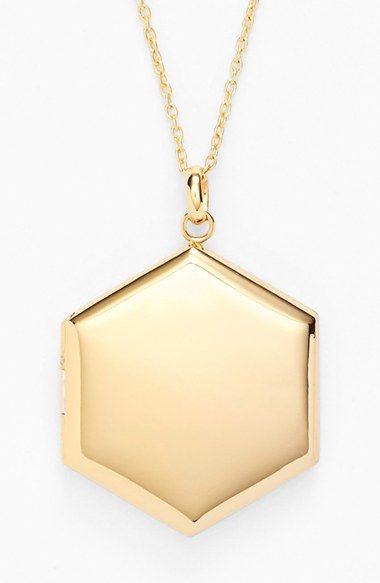 Argento Vivo Large Hexagon Locket Necklace available at #Nordstrom