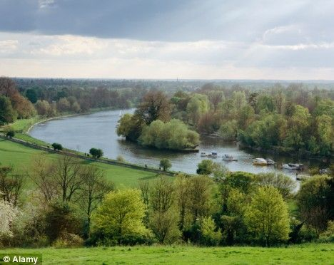 View of the Thames from Richmond Hill, Richmond upon Thames - I used to take walks and pictures here when I lived around the corner.