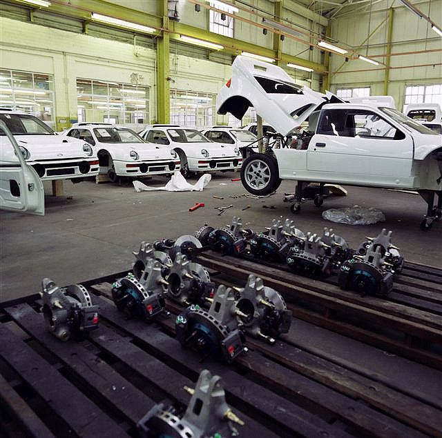 Ford RS200 works factory.