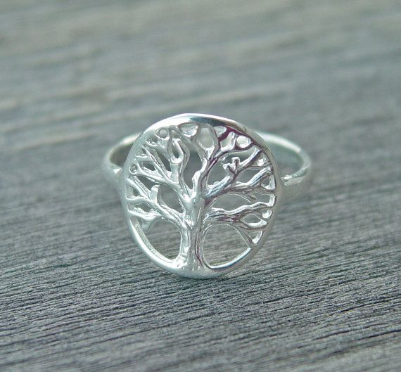 Engraved Tree of life ring sterling silver SALE ENGRAVABLE on Etsy, $29.99