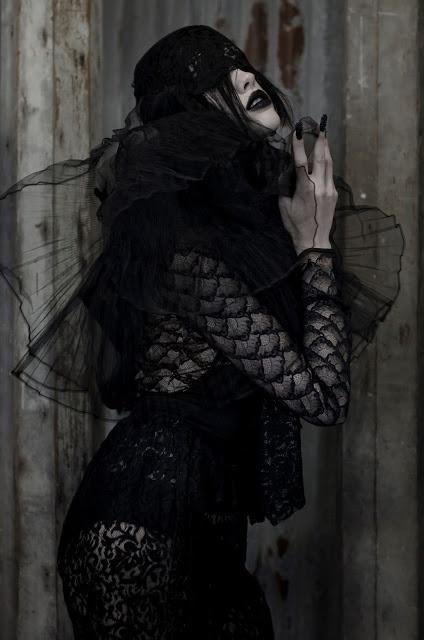 Photographer: Kaity Body  Styling: Kara Chomistek  Styling Assistant: Carmen Tsang  Hair: Jag Moussa  MUA: Maria Constanza  Model: Celina, Mode Models International  photoshoot, editorial, lace, dark, alexander mcqueen inspired