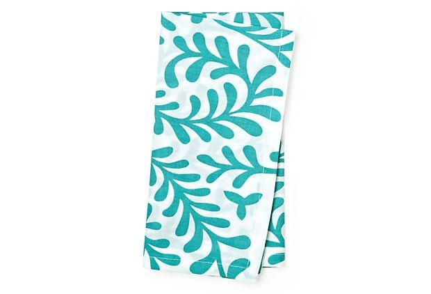 Love this napkin by Divine Designs. Just wish it came in Indigo to match my Mediterranean napkins from West Elm!