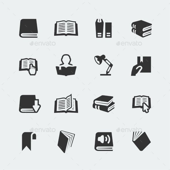 Vector Books and Reading Mini Icons Set — Photoshop PSD #studying #library • Available here → https://graphicriver.net/item/vector-books-and-reading-mini-icons-set/10783766?ref=pxcr