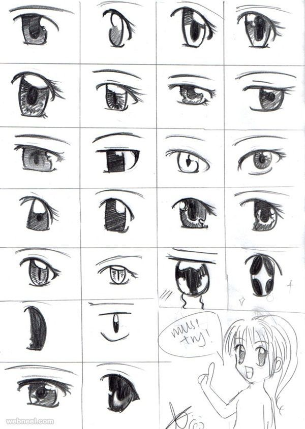 How To Draw Anime Eyes How To Draw Anime Characters Step By Step 30 Examples Anime Drawings Anime Character Drawing Anime Eye Drawing