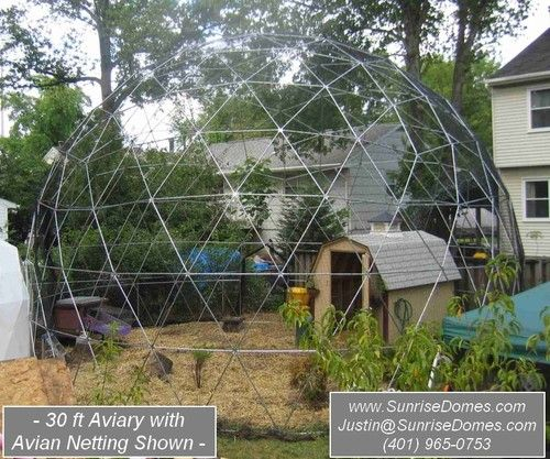 Geodesic Dome Walk In Outdoor Aviary Flight Cage Animal