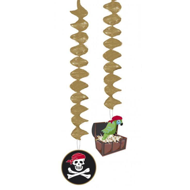 Pirat loft dekorationer og festpynt til pirat fest.