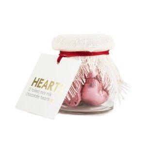 Mini Jar Filled with Milk Chocolate Heart 12x4.5g