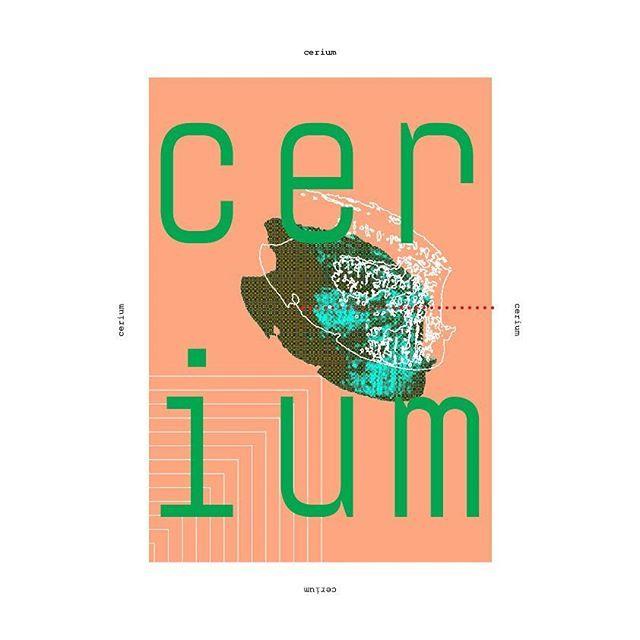 Cerium  #poster #posterdesign #graphicdesign #design #adobe #chemicalelements #metal #cerium