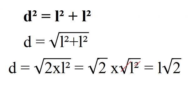 Cómo Calcular La Diagonal De Un Cuadrado 4 Pasos Como Calcular El Consejos Y Trucos Raiz Cuadrada