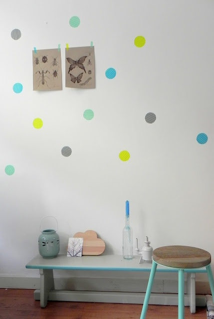 masking tape wall dots