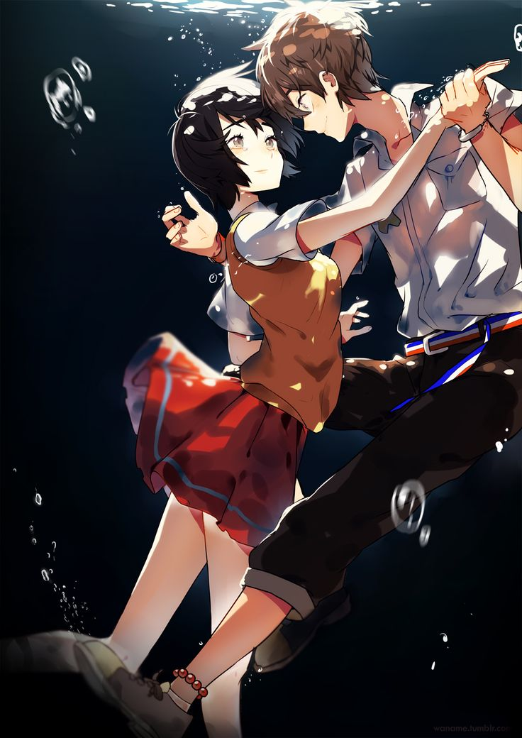 waname:   Will anyone sprinkle the ocean over my head? I want to be showered by submerged fish and sun  Inspired by Zankyou no Terror ED. When I noticed that a hand pulled Lisa up, I thought that it's highly possible that it's Twelve!