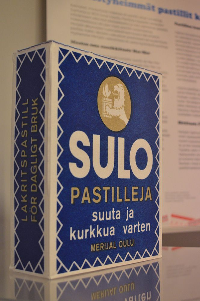 """Suloinen sulla on suu, kun suussa sulla on suloinen Sulo-pastilli"", mainoslause on monelle tuttu. Luuppi, Oulu (Finland)"