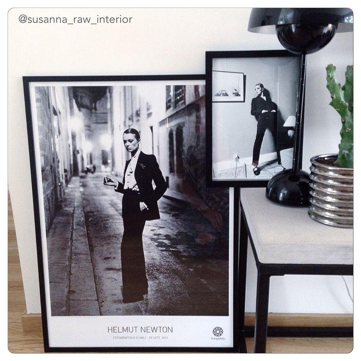 Helmut Newton. Black and white photoart.