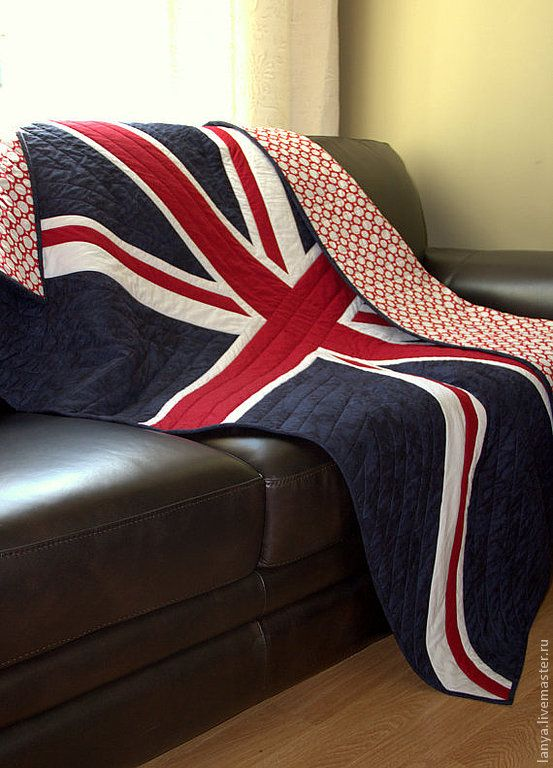 Union Jack quilt plaid - with an American flag on the other side for Lisa and Phil!