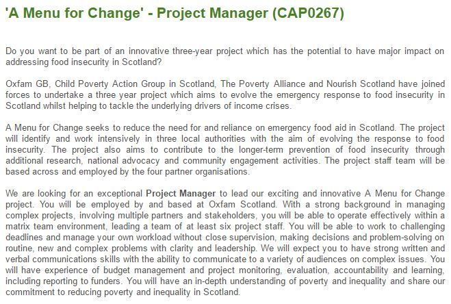 Not long left to apply to become the #MenuForChange Project Manager. Deadline is Wednesday 28th June https://jobs.oxfam.org.uk/vacancy/a-menu-for-change---project-manager-cap0267/5397/description