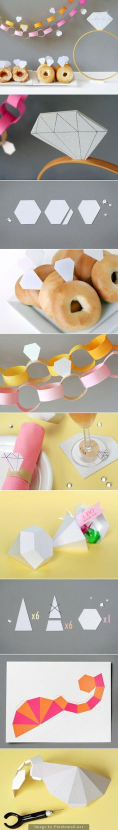 Diamond-Themed Bridal Shower: A bridal shower is a great opportunity to have fun with the geometric trend by choosing a diamond theme. Fiskars tools make it easy to craft up your own decorations for this special affair.