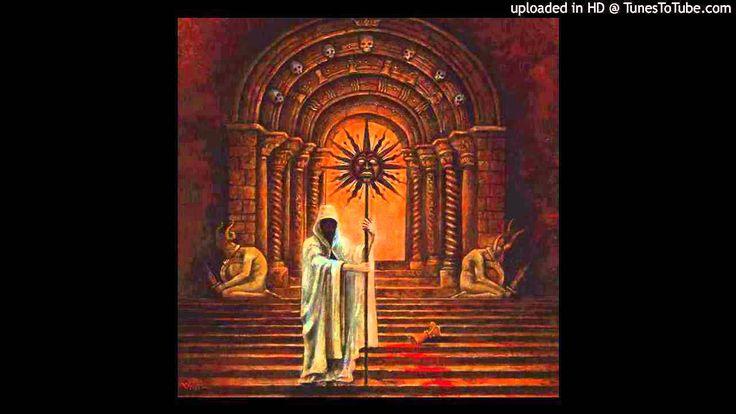 """Nightbringer - """"Supplication Before the Throne of Tehom."""" Tehom (hebr. תְהוֹם, Tiefe, Kluft, Abgrund) ist der in der biblischen Genesis erwähnte Schöpfungsurgrund, wo von der Finsternis gesprochen wird, die über der Tiefe waltet und damit vergleichbar der Tiamatwelt, dem gähnenden Abgrund """"ginnungagap"""" der nordischen Mythologie oder dem """"gahanam gabhîram"""" aus dem Schöpfungsmythos des Rigveda."""