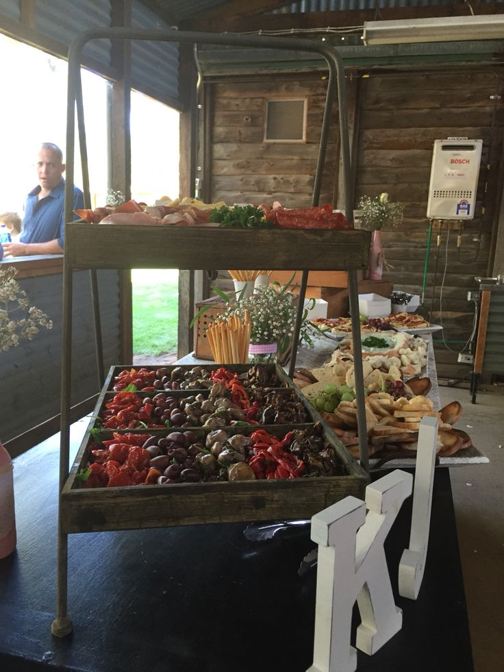 Grazing table for finger food wedding ,
