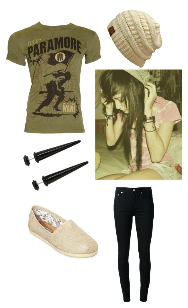 """""""Paramore indie scene outfit"""" by lizzyloveshk19 ❤ liked on Polyvore featuring BLK DNM, Olsenboye and INDIE HAIR"""