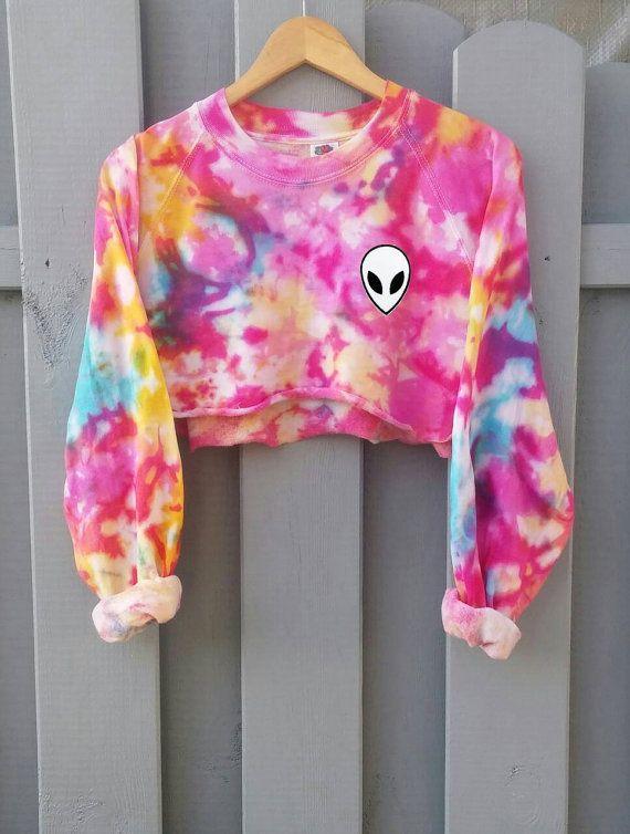 Candy pastello Goth maglione di cotone camicia di di SpacyShirts
