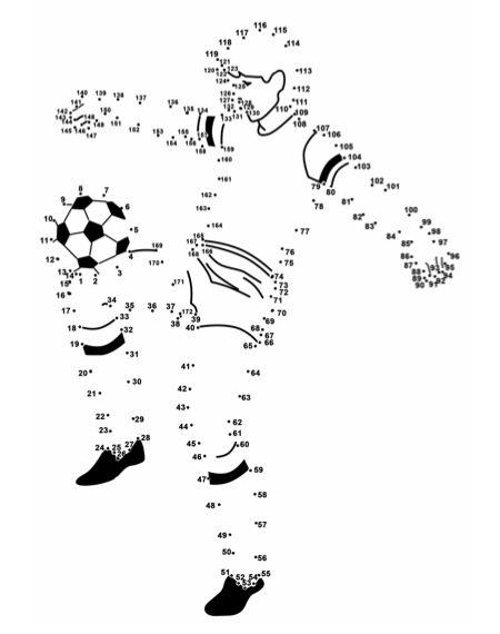 Verbind De Getallen Voetballer