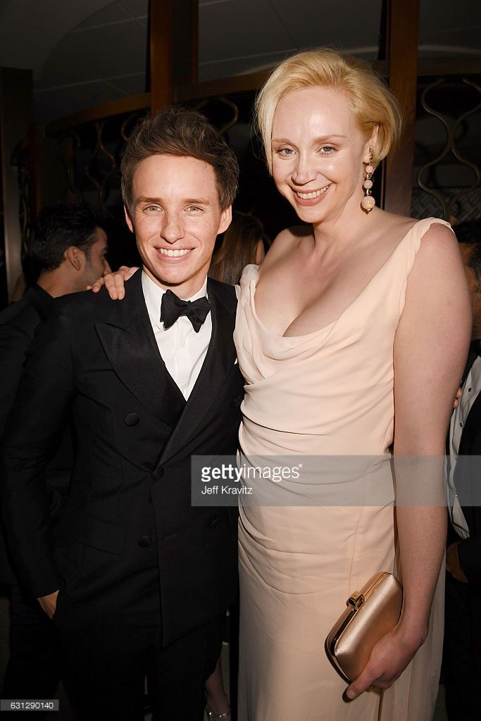 Eddie Redmayne (L) and Gwendoline Christie attends HBO's Official Golden Globe Awards After Party at Circa 55 Restaurant on January 8, 2017 in Beverly Hills, California.