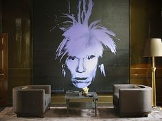 Hang it - Interiors Inspiration: Andy Warhol's Self Portrait, 1986