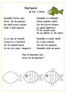 Citim, desenăm, colorăm - Peștișorul