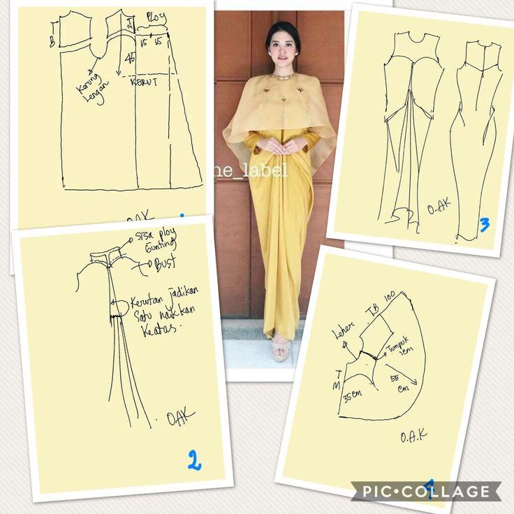 Cape long dress
