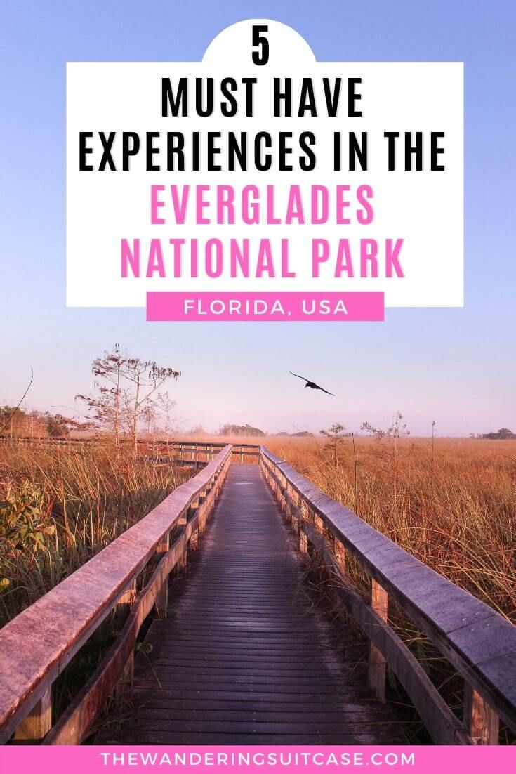 Top 5 Must Have Experiences In The Everglades The Wandering Suitcase Florida National Parks National Parks Trip North America Travel Destinations