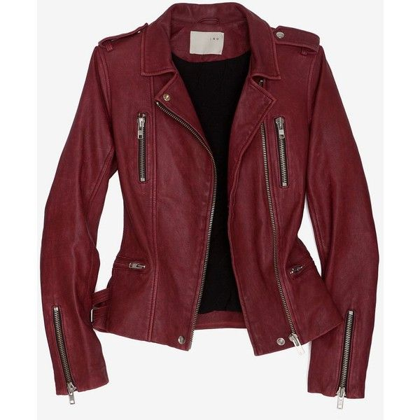 Iro Iro Exclusive Biker Leather Jacket ($1,248) ❤ liked on Polyvore