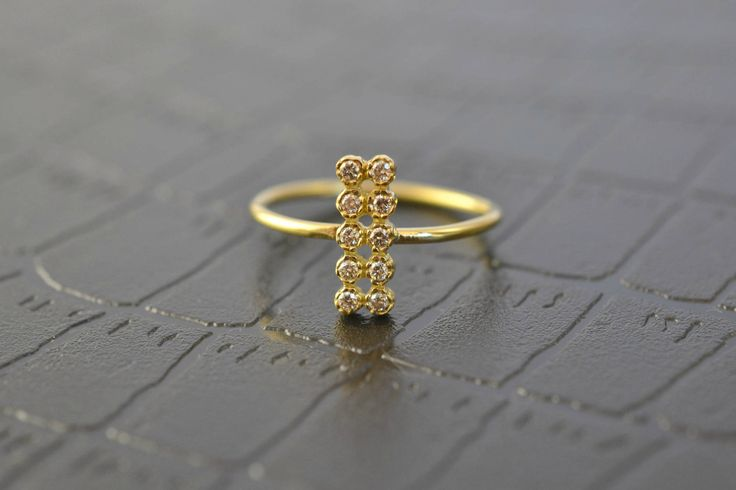 Our latest ring is now available and it is included in our Christmas Sale.  Check it out! Champagne Diamond Ring Solid 18k Gold Ring  http://etsy.me/2mEHFNB via @Etsy