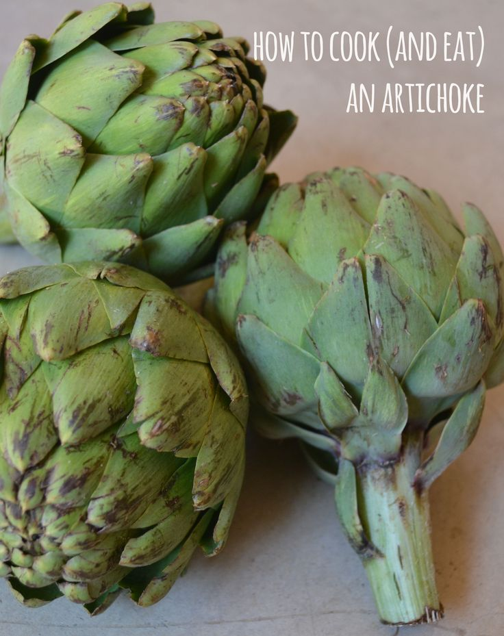 Steamed Artichokes - We love eating artichokes -- especially the heart!