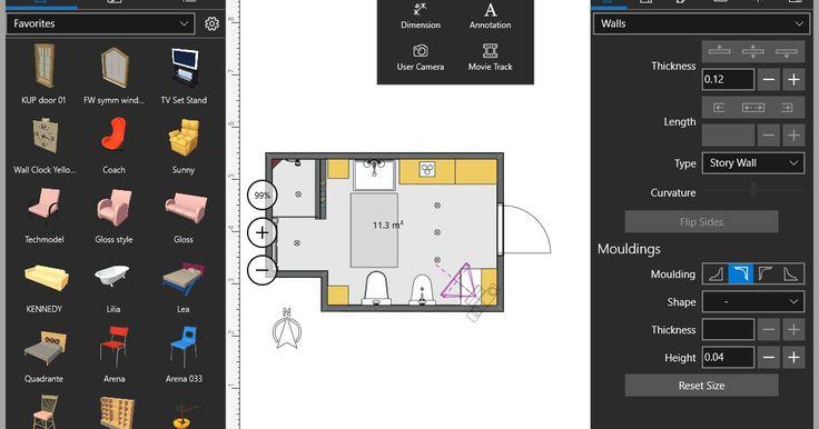 Το Live Home 3D είναι ίσως πιο διαισθητική εφαρμογή σχεδιασμού για το σπίτι. Σχεδιάστε λεπτομερείς 2D κατόψεις και παρακολουθήστε καθώς η δομή είναι αυτόματα κατασκευασμένη σε 3D. Σχεδιάστε και διακοσμήστε το εσωτερικό βελτιστοποιώντας τη διάταξη των επίπλων και κάνοντας έξυπνες επιλογές χρωμάτων σε ένα πλήρες λειτουργικό 3D περιβάλλον. Το Live Home 3D δημιουργεί αυτόματα μία 3D απεικόνιση μόλις σχεδιάσετε ένα σχέδιο. Το τελευταίο μπορεί να κατασκευαστεί από το μηδέν ή να εντοπιστεί από μια…