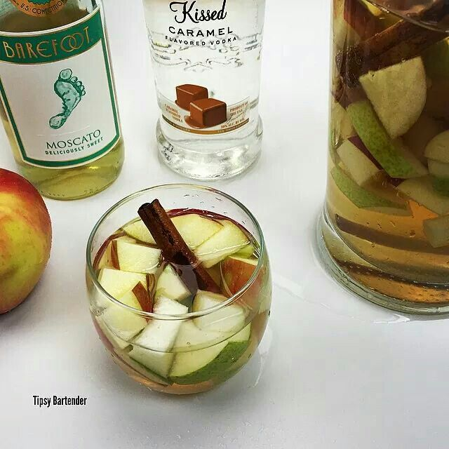 Apple pie sangria! For the recipe, visit us here: www.TipsyBartender.com