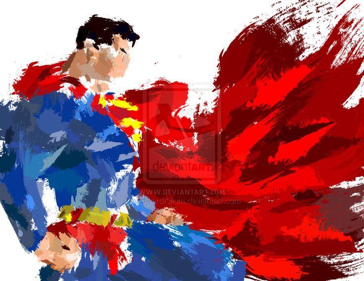 'Abstract' Superman Splatter by ~EdwardKillum on deviantART
