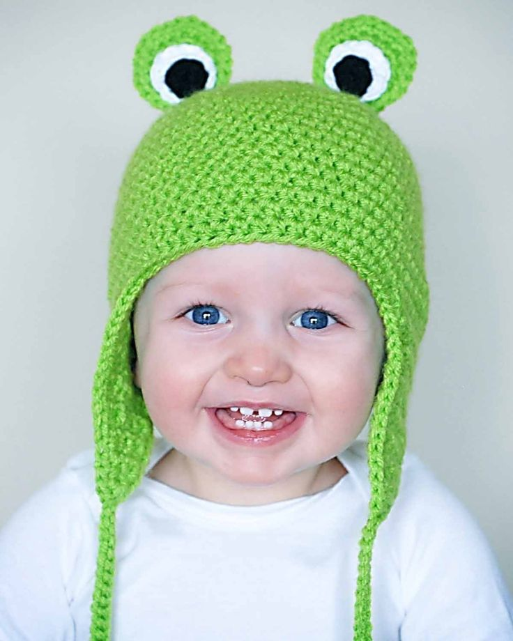 Froggy Earflap Hat Crochet Pattern (Permission to sell all finished products). $4.99, via Etsy.