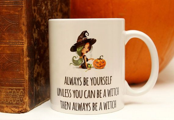 Motivational mug for a real witch, because every one of us is a witch sometimes... ;)  https://www.etsy.com/listing/209221095/lady-witch-motivational-mug-for-a-real?  http://pl.dawanda.com/product/71442767-Lady-WITCH