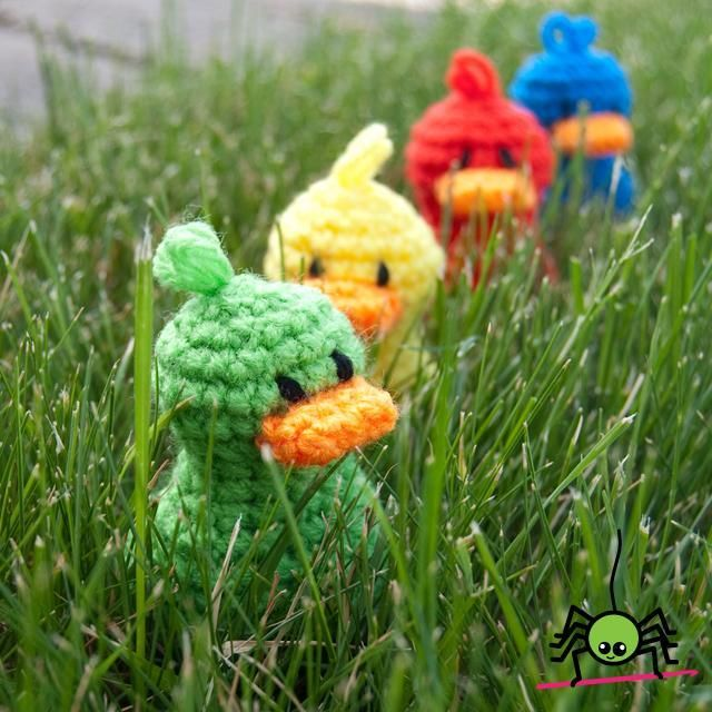 (4) Name: 'Crocheting : Lil' Duck